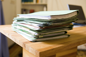 Stack of Paperwork on table